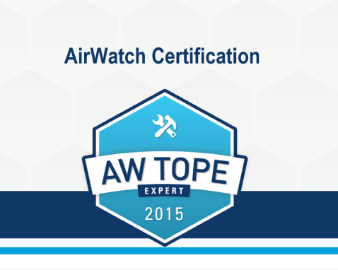 We reached the Expert competence in AirWatch CLOUDCOMPUTING.PT